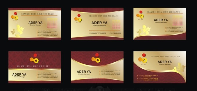 Free business card design templates free set of gorgeous golden business card design templates vector colourmoves