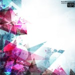 Colorful Abstract Grunge Background Vector 01