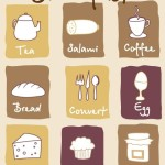Hand Drawn Breakfast Icon Set Vector