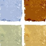 Set Of Colorful Vector Grunge Backgrounds 03