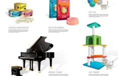 Set Of Musical Instrument and Office Supplies Icons Vector
