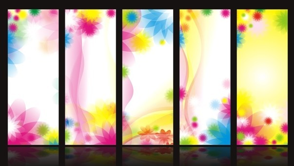 Free Set Of Vector Sweet Flowers Banner Design Templates - TitanUI