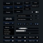 Moonlight Dark Blue Web UI Kit PSD
