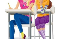 Vector Fashion City Girls Illustration 02