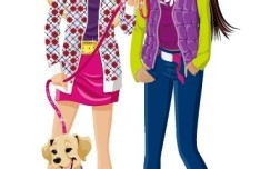 Vector Fashion City Girls Illustration 11