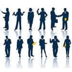 Business Men and Women Silhouettes