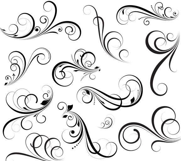 Floral swirl patterns - photo#9