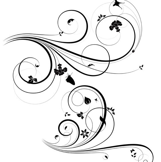 Floral swirl patterns - photo#18