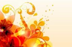 Fresh Swirl Floral Background Vector 02