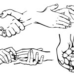 Hand Drawn Hand Actions Vector