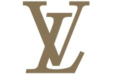 Simple Brown Louis Vuitton Logo Vector