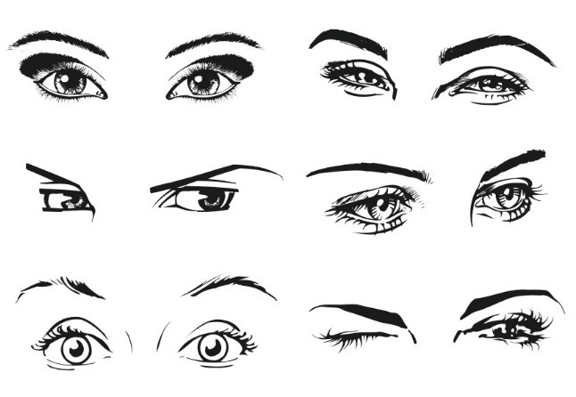 Free Vector Sketch Woman Eyes - TitanUI