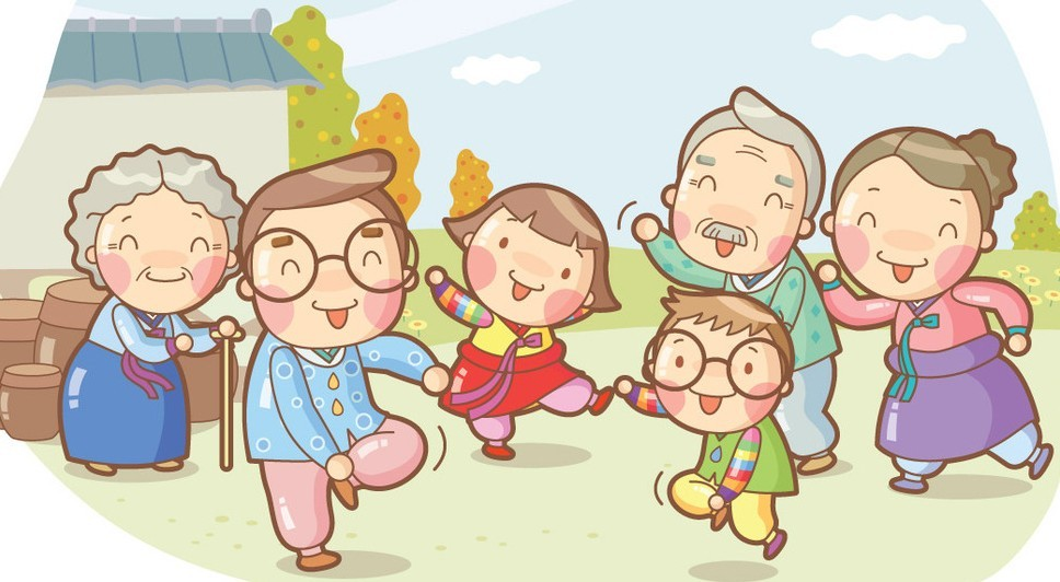 Free Cartoon Happy Family Illustration Vector Titanui