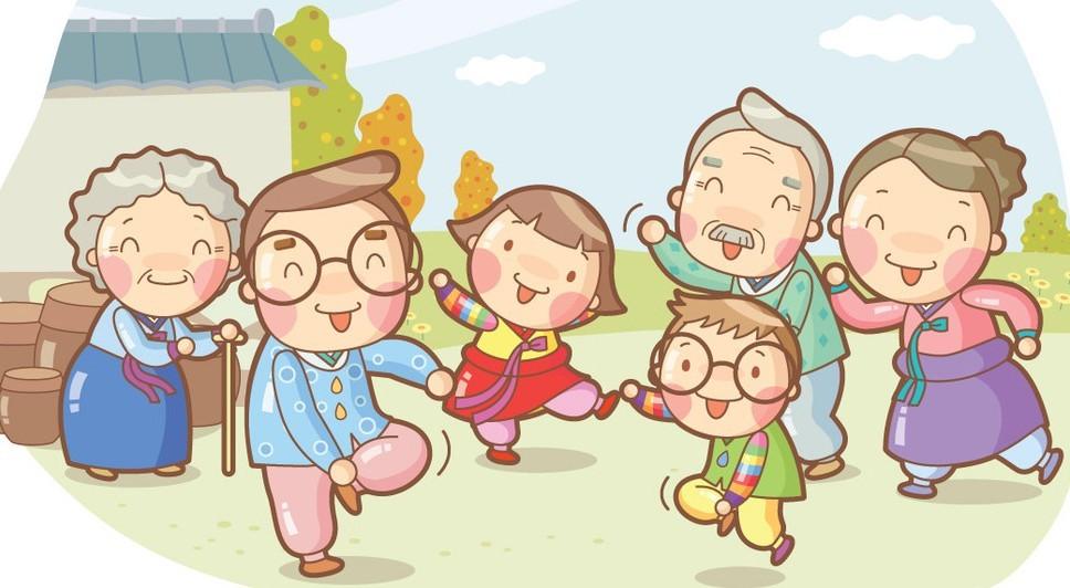 Free Cartoon Happy Family Illustration Vector TitanUI