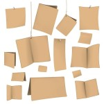 Set Of Vector Brown Blank Paper Templates