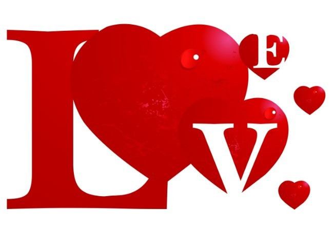 Free vector creative red love design titanui for The designlover
