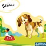 Cute Cartoon Beagle Illustration Vector