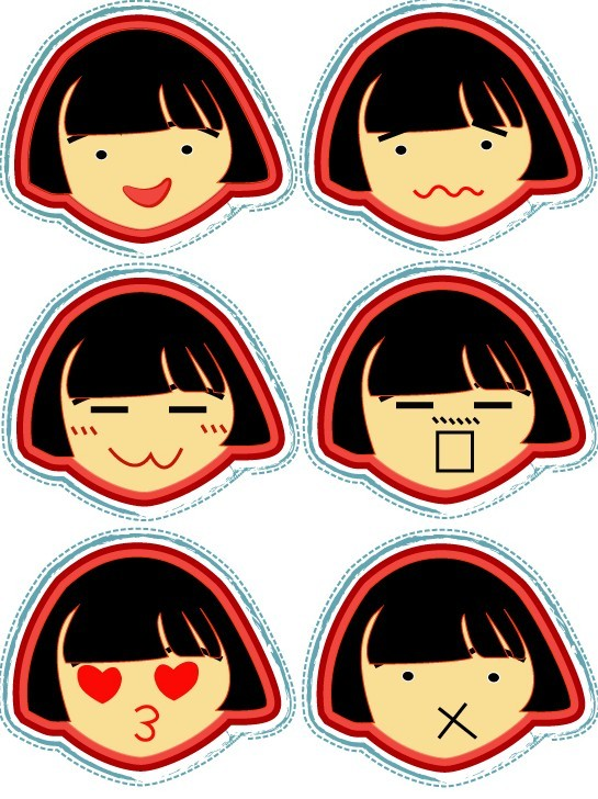 Girl Cartoon Vector Free Download Cute Cartoon Girl Emotions