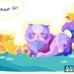 Cute Cartoon Persian Cat Illustration Vector