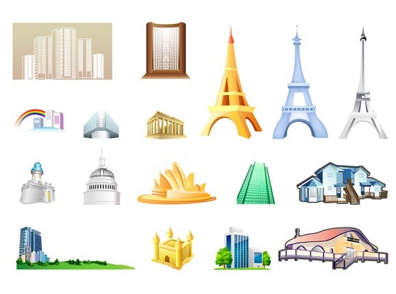 Landmarks Vector Set of Vector World Landmark