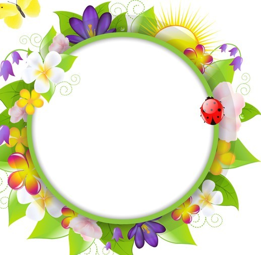 Free Fresh Summer Garland Frame Vector 03