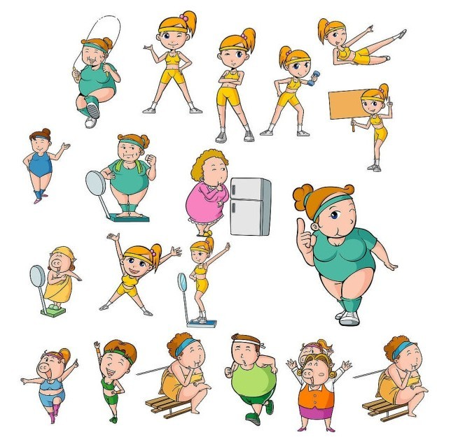 Free Vector Illustrations Of Weight Loss Exercise For ...