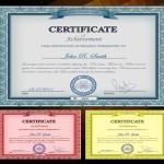 Vector Vintage Certificate Templates