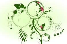 Green Vines Background Vector