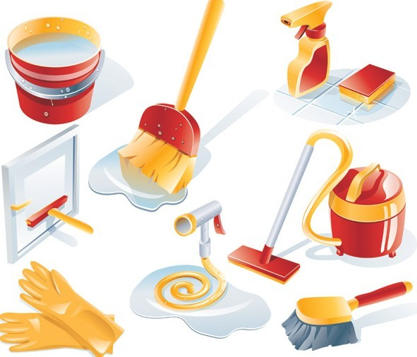 Free Set Of Clean House Cleaning Icons Vector 01 Titanui