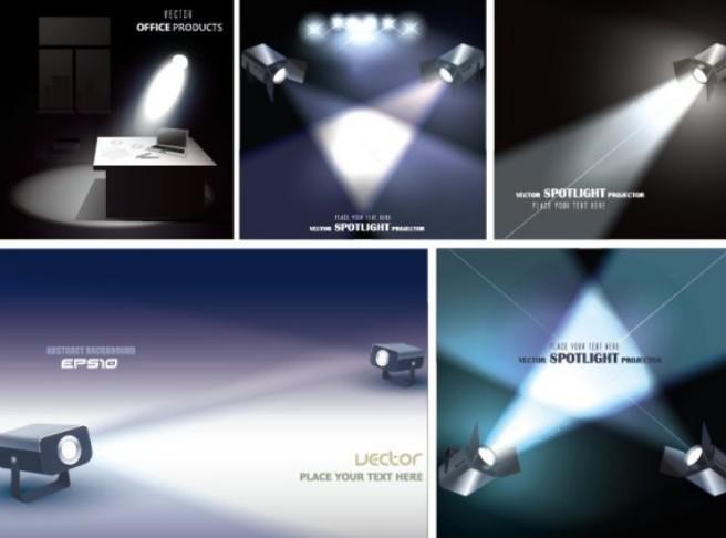 Free vector spotlight projector designs titanui for Spotlight design