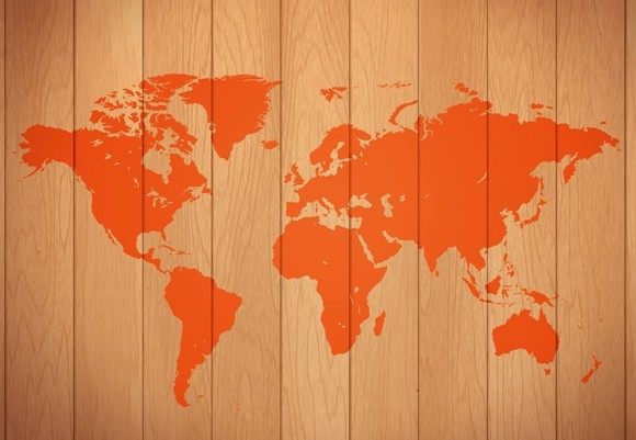 Free Wooden World Map TitanUI
