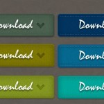 9 Colors Leather Download Buttons PSD