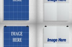 Paper Clips Frame PSD