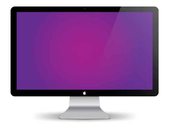 Mac Desktop Monitor Mac Monitor Vector Mockup