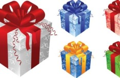 Elegant Gift Boxes with Ribbon Bows