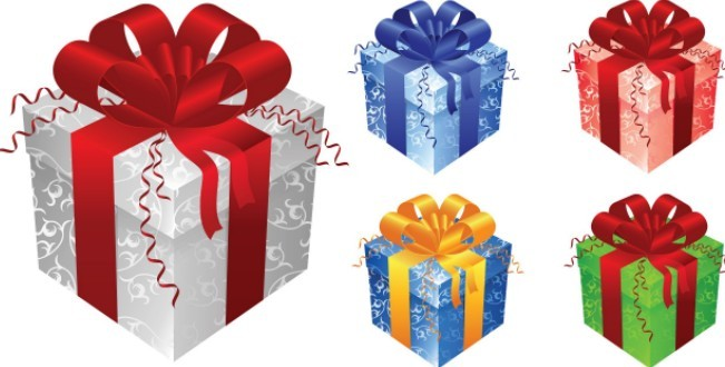 Free elegant gift boxes with ribbon bows vector titanui negle Choice Image