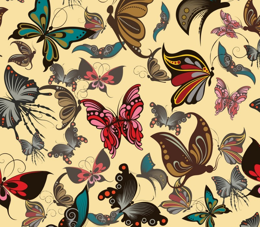 Free Vintage Butterfly Patterns Vector Titanui