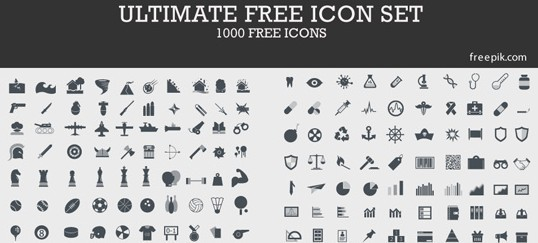 1000 ultimate free vector icons