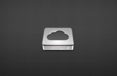 3D Cloud Disk Icon PSD