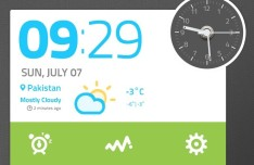 Time and Clock Widget PSD