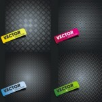 4 Sleek Metal Vector Backgrounds