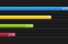 Colored Loading Bar With Percentage PSD