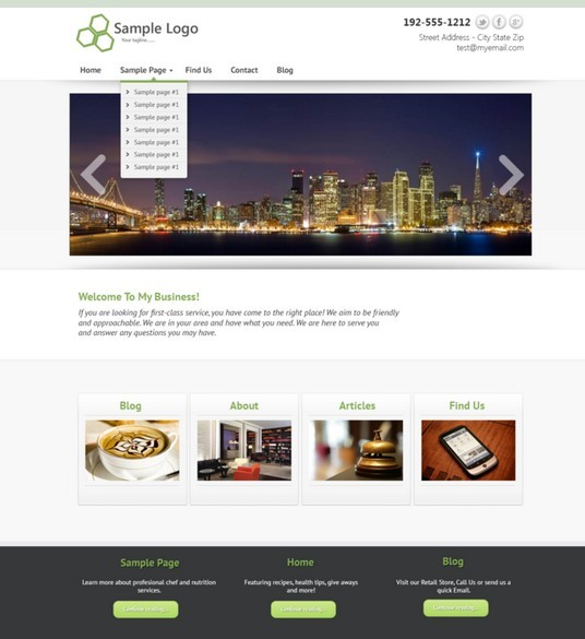 Free Made Business Website Template Psd: Free Simple Business Website Template PSD