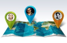 World Map and Pointers PSD
