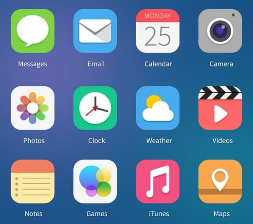 Free 12 Flat Ios 7 Style App Icons Titanui