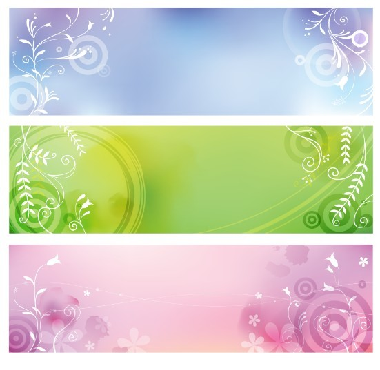 Free 3 Fresh Spring Banners With Flourish Floral