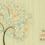 Clean Abstract Tree Vector Illustration 01