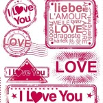 Pink I Love You Seals Vector