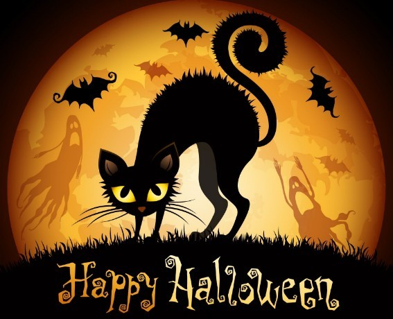 Free Cartoon Happy Halloween Card Background Vector Titanui