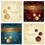 Set Of Beautiful Merry Christmas Card Design Templates Vector 02